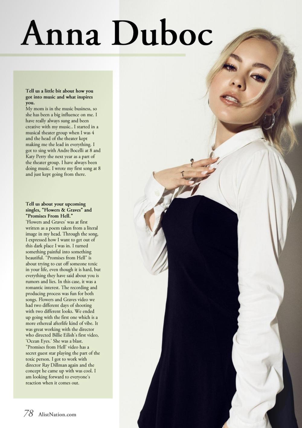 Teen A-List Nation Magazine Article